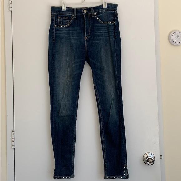 rag & bone Denim - Rag and Bone 10 Inch Studded Skinny Jean